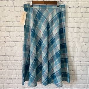 Vintage Pendleton virgin wool plaid midi skirt